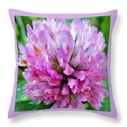 Clover Flower Upclose Throw Pillow
