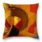 Clovis Hot Air Balloon Fest 3 Throw Pillow