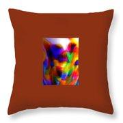 Clown Chakra Nebula Throw Pillow