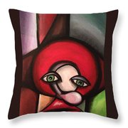 Clown In Awe Throw Pillow