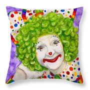 Watercolor Clown #12 Sue Marranconi Throw Pillow