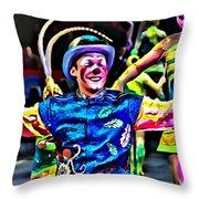Clowned Blue Throw Pillow