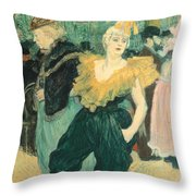 Clowness Cha-u-kao At Moulin Rouge Throw Pillow