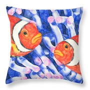 Clownfish Couple Throw Pillow
