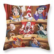 Fun And Games In Congress Throw Pillow