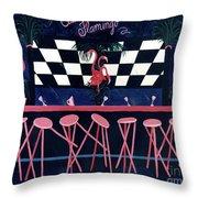 Club Flamingo Throw Pillow