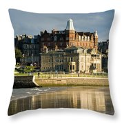 Club House St Andrews  Throw Pillow