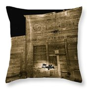 Club Saloon Ghost Town Walcott Wyoming 1971-2010 Throw Pillow
