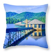 Clubhouse On Lake Tahoma Throw Pillow