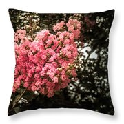 Clump Of Flowers Throw Pillow