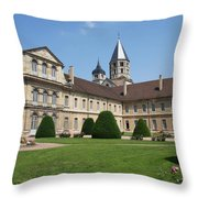 Cluny Abbey - Burgundy Throw Pillow