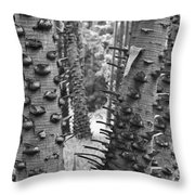 Cluster- Black And White Throw Pillow