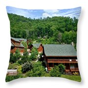 Cluster Cottages Throw Pillow
