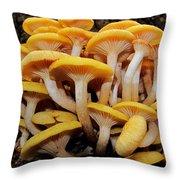 Cluster Fungi Throw Pillow