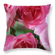 Cluster Of Pink Throw Pillow