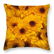 Cluster Of Yellow Blooms Throw Pillow
