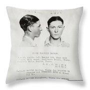 Clyde Champion Barrow Mugshot - Dallas Texas  Throw Pillow
