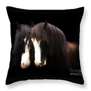 Clydesdales Throw Pillow