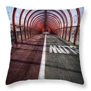 Clydeside Walkway Throw Pillow by John Farnan