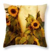 Clytie Throw Pillow by Evelyn De Morgan