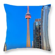 Cn Tower By Night Throw Pillow