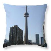 C N Tower Toronto Throw Pillow