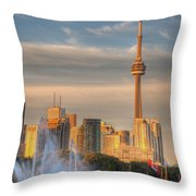 Cn Tower Toronto Throw Pillow