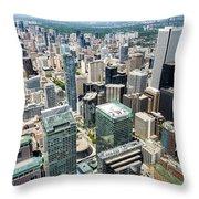 Cn Tower View Throw Pillow