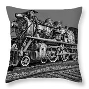 Cnr Number 47 Bw Throw Pillow