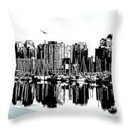 Vancouver Canada Coal Harbour Centre Panel Throw Pillow
