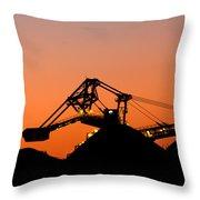 Coal Loader Throw Pillow