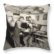 Coal Mine Hospital, C1917 Throw Pillow