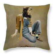 Coal Miner's Daughter  Throw Pillow