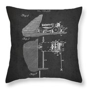 Coal Mining Machine Patent From 1903- Charcoal Throw Pillow