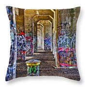 Coal Piers Throw Pillow