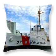 Coast Guard Cutter Taney Throw Pillow