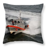 Coast Guard In Action Throw Pillow