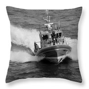 Coast Guard In Black And White Throw Pillow