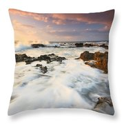 coast of Crete 'II Throw Pillow