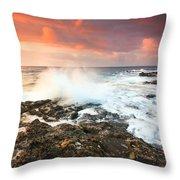 coast of Crete 'III Throw Pillow