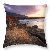 coast of Crete 'IV Throw Pillow