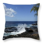 Coast Of Kauai Throw Pillow