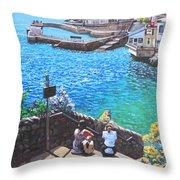 Coast Of Plymouth City Uk Throw Pillow