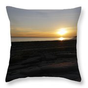 Coast Sunset Throw Pillow
