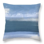 Coastal- Abstract Landscape Painting Throw Pillow