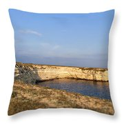Coastal Area On Crimea Ukraine. Throw Pillow