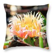 Coastal Bloom Throw Pillow