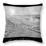 Coastal Calibration Throw Pillow