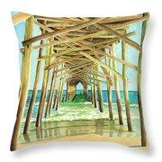 Coastal Cathedral  Throw Pillow