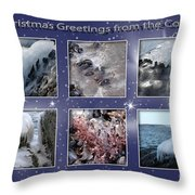 Coastal Christmas Throw Pillow
